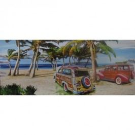 Obraz PLÁŽ barevný 86 x 30 cm Venezina