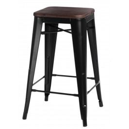 Barová židle Paris Wood 75cm černá borovice