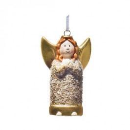 Vánoční dekorace keramický anděl na provázku Claudia Drescher 00011316