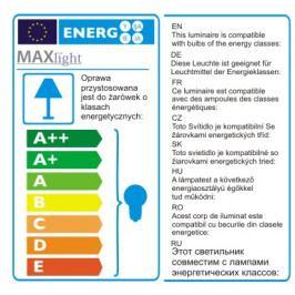 Závěsné svítidlo Maxlight Solero 2, bílá, P0329-05B-F4E0