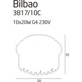 Stropní svítidlo Maxlight Bilbao, 3817/10C