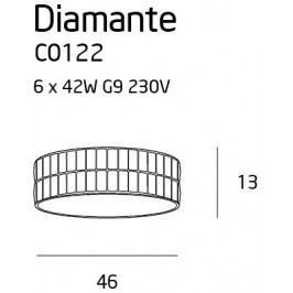 Stropní svítidlo Maxlight DIAMANTE malé, C0122
