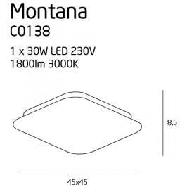 Stropní svítidlo Maxlight Montana, C0138