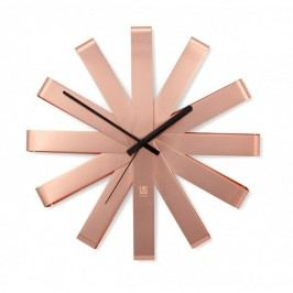 Nástěnné hodiny RIBBON 30 cm měděné - Umbra Umbra 118070880