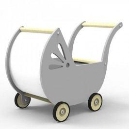 Dřevěný kočárek pro panenky Planeco Lila šedý Planeco