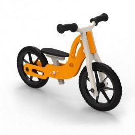 Dřevěné odrážedlo Planeco Billy oranžový pro nejmenší děti