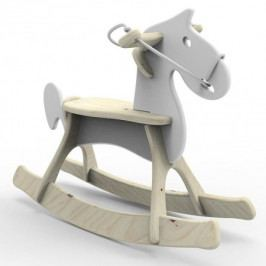Dřevěný houpací kůň Planeco Štefánek bílý
