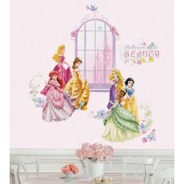 Samolepky Disney Princess. Obrázky princezen na bále.
