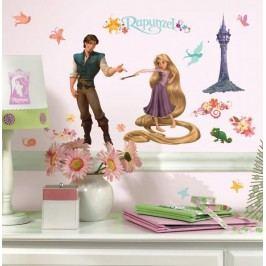 Dětské samolepky na zeď s Rapunzel - obrázky Na Vlásku