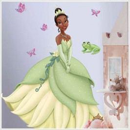 Samolepky Disney Princess. Obrázek Tiana. Princezna a žabák.