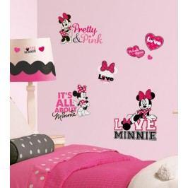 Samolepky Disney. Obrázky Minnie Mouse miluje růžovou.