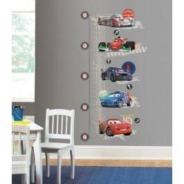 Dětský samolepící metr na stěny pokoje Cars 2