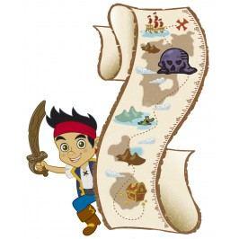 Dětský samolepící metr Jake a piráti ze Země Nezemě. Disney.