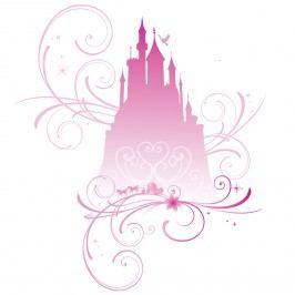 Disney samolepka na zeď Růžový zámek