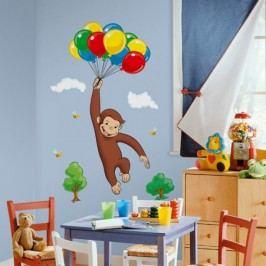 RoomMates Samolepka Zvědavý George. Dekorace na zeď.
