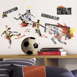 Dekorační sportovní samolepky. Obrázky Fotbalový zápas