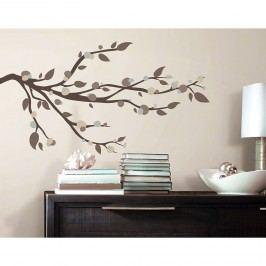 Samolepka na zeď Větev hnědý strom