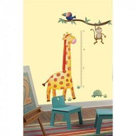 Dětský metr Safari. Samolepky Žirafa a opička.