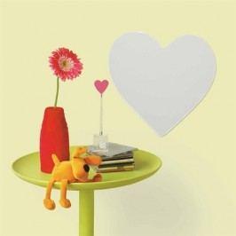 Samolepící dekorace tvarované zrcadlo Srdce