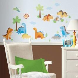 Obrázky dinosaurů - samolepky na zeď dekorace Dětské dino