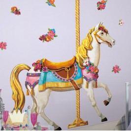 Samolepky na zeď koně - Samolepka Bílý kůň