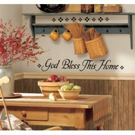 Samolepící dekorace God Bless This Home