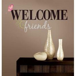 Samolepky Welcome Friends - textové dekory