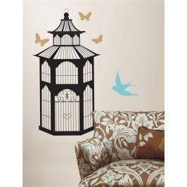 Samolepky na zeď dekorace Ptačí klec