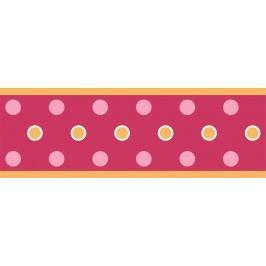 Samolepící bordury Puntíky v červeném