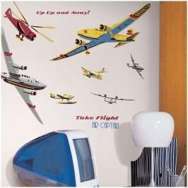 Samolepící dekorace - samolepky  Letadla