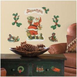 Vánoční samolepící dekorace - samolepky Santa Claus