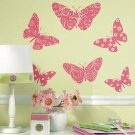 Samolepky Motýli - samolepící dekorace semiš
