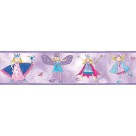 Samolepící dekorace. Bordury Malá princezna