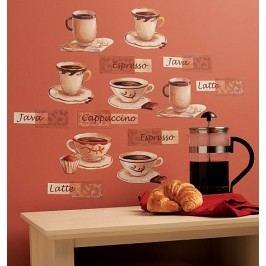 Samolepící dekorace  Káva - espresso, latte, cappuccino