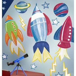 Samolepky Vesmírné rakety