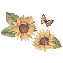Samolepící dekorace  Slunečnice a motýl