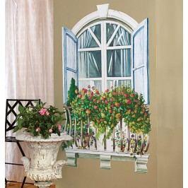 Samolepící dekorace  Francouzské okno