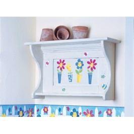 Samolepící dekorace  Květinky v květináči