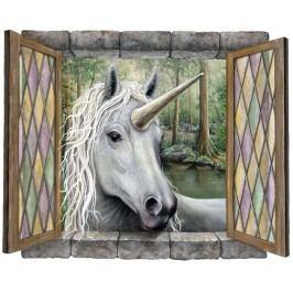 Samolepící dekorace - Okno Fantazie - Jednorožec