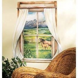 Dekorace Okno a koně