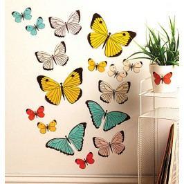 Samolepky Pasteloví motýli