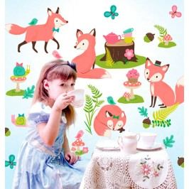 Samolepky Lišky na Tea párty