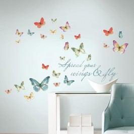 Samolepky Motýli a motto