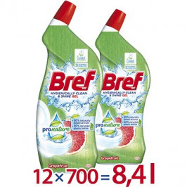 BREF Pro Nature Grapefruit 12× 700 ml