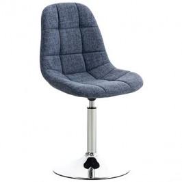 Jídelní otočná židle Miley textil modrá