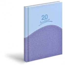 Diář 2021 D801 PU light blue / blue
