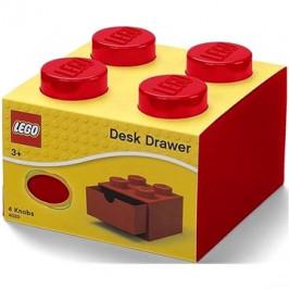 LEGO stolní box 4 se zásuvkou červený