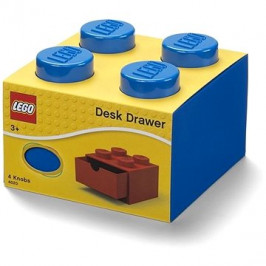 LEGO stolní box 4 se zásuvkou modrý