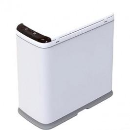 iQtech Regeman 9 l, odpadkový koš bezdotykový, hranatý, bílý