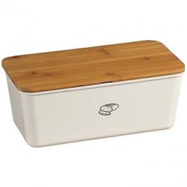 Kesper Úložný box na chléb s krájecím prkénkém, krémový